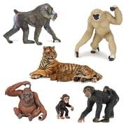 Papo – Ensemble de 6 figurines d'animaux du zoo, peintes à la main