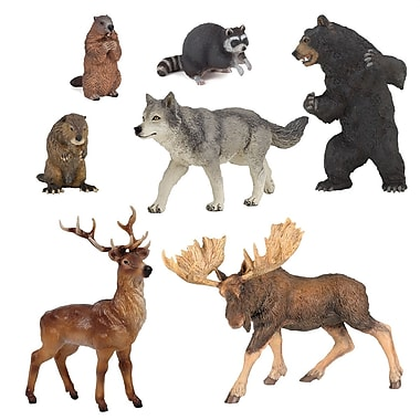 Papo Set of 7 Forest Animals Hand Painted Figurines