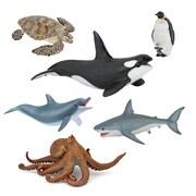 Papo – Ensemble de 6 figurines d'animaux marins peintes à la main