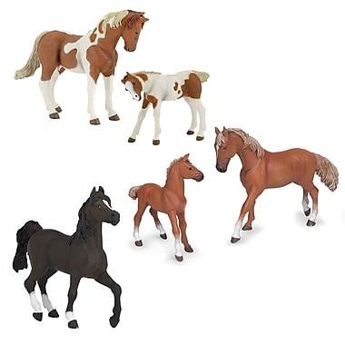 Papo Set of 5 Horses Hand Painted Figurines