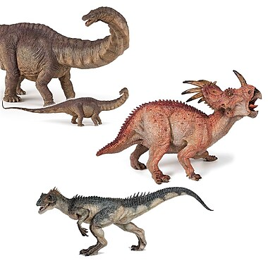 Papo Set of 3 Dinosaurs 3 Hand Painted Figurines