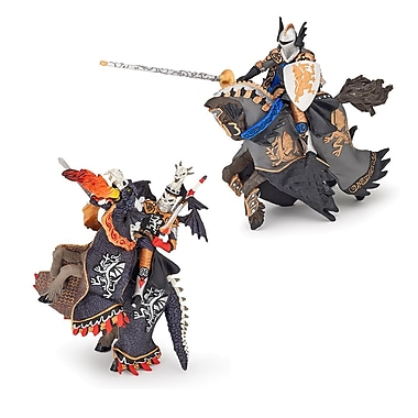 Papo Set of 2 Fantasy Knights On Horse Hand Painted Figurines