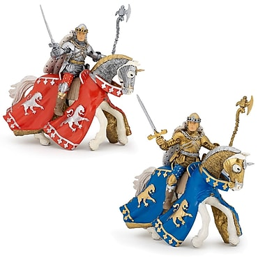 Papo Set of 4 Knights and Horses Hand Painted Figurines