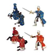 Papo – Ensemble de 4 figurines peintes à la main de 2 chevaliers et de 2 chevaux