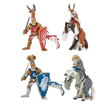 Papo Set of 4 Weapon Masters Hand Painted Figurines