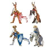 Papo – Ensemble de 4 figurines peintes à la main de maîtres d'armes