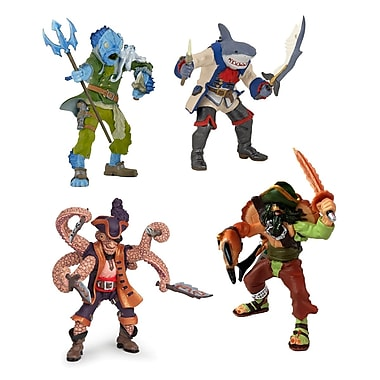 Papo Set of 4 Mutant Pirate Hand Painted Figurines