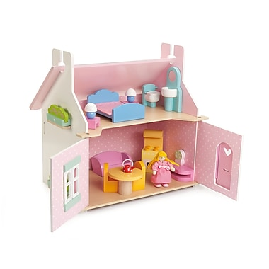 Le Toy Van Lily's Cottage with Furniture Set Small Size Dollhouse