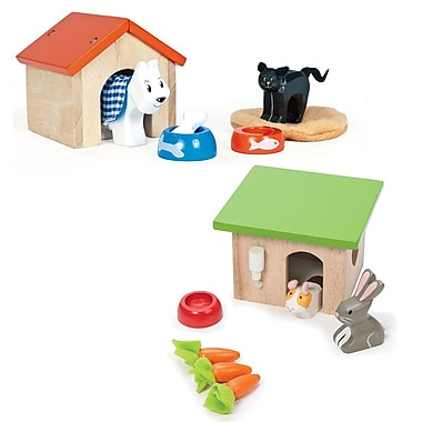 Le Toy Van Set of Pet Accessories: Dog and Cat, Bunny and Guinea