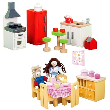 Le Toy Van Sugar Plum Kitchen and Dining Room Set of Furniture