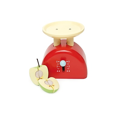 Le Toy Van Weighing Scales with Apple with Velcro That Can Be Quartered