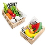 Le Toy Van Harvest Vegetables and Smoothie Fruits Come In Each of Their Wooden Crate