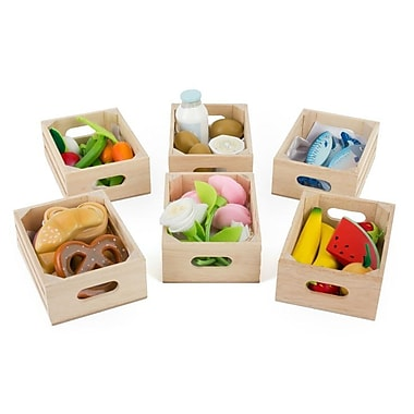 Le Toy Van Assortment of 6 Crates To Fill Your Honeybee Market