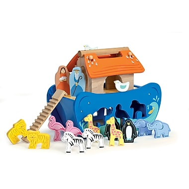 Le Toy Van Noah's Shape Sorter Has 7 Pairs of Cute Wooden Animals