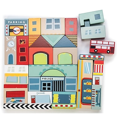 Le Toy Van Timber Town Block - 34 Pieces