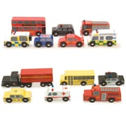 Le Toy Van Sets of Cars: American Set and London Set