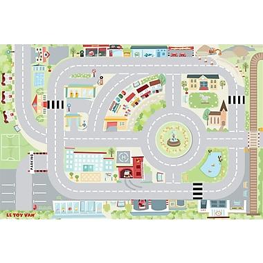 LE TOY VAN – MON PREMIER TAPIS DE JEU, routes et ville, 80 cm x 120 cm