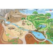 Le Toy Van – Grand tapis de jeu Safari, 100 x 150 cm