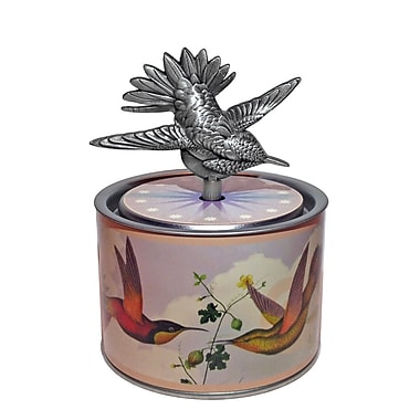 PML SOC208 Socle Casting Wind-up Musical Box, Hum bird Key, Brahm's Lullaby