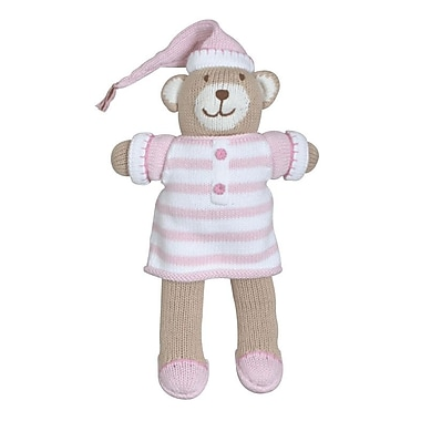Zubels BEAR12-PK Bear in Pajamas Pink 12