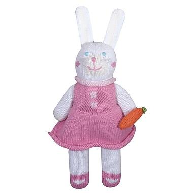 Zubels – Poupée tricotée à la main, BUNG12, lapine Pish Colin, 12 po