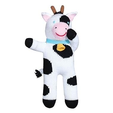 Zubels – Poupée tricotée à la main, COW12, Cow Cowleen, 12 po