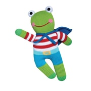 "Zubels FRO24 Frog Freddy 24"" Hand Knitted Doll"