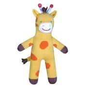 Zubels – Poupée tricotée à la main, GIR12, girafe de la jungle Joshua, 12 po