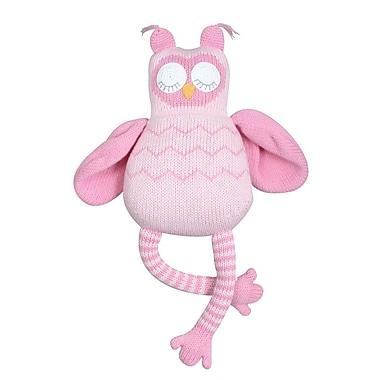 Zubels – Poupée de hibou rose OWL12-PK de 12 po tricotée à la main