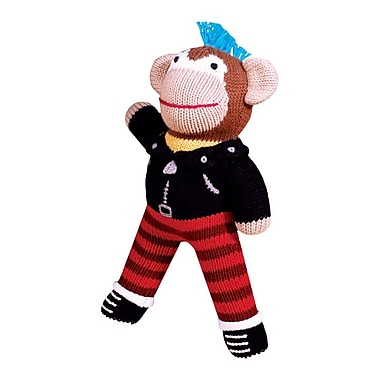 Zubels – Poupée tricotée à la main, RS12, singe Rock n' Roll, 12 po