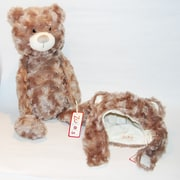"Zubels Set of Bear Hat and 16"" Super Soft Plush Bear"