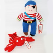 "Zubels Gift Set Pirate Doll 12"" and Lobster Rattle"