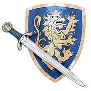 LionTouch – Noble épée de chevalier et bouclier bleu