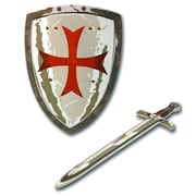 LionTouch Maltese Knight Sword and Shield Grey