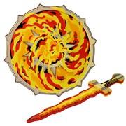 LionTouch – Épée et bouclier flamme rouge/jaune