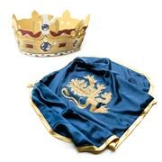 LionTouch – Couronne royale et cape de chevalier noble, bleu et polyester