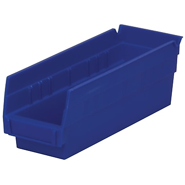 Akro-Mils Shelf Bin,11-5/8 x 4-1/8 x 4, Blue