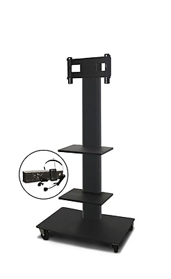 Marvel® Vizion® MVPFS3265DT2E TV/Monitor Stand and Mount with Two Shelves and AmpliVox Headset Microphone (holds 26