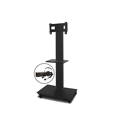 Marvel® Vizion® MVPFS3265DTE TV/Monitor Stand and Mount with Shelf and AmpliVox Headset Microphone (holds 26