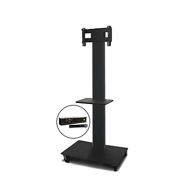Marvel® Vizion® MVPFS3280DTH TV/Monitor Stand and Mount with Shelf and Hand-held Microphone (holds 26