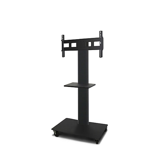 """Marvel Vizion TV/Monitor Stand and Mount with Shelf, Black, 55""""H x 36""""W x 24""""D (MVPFS6055DT)"""