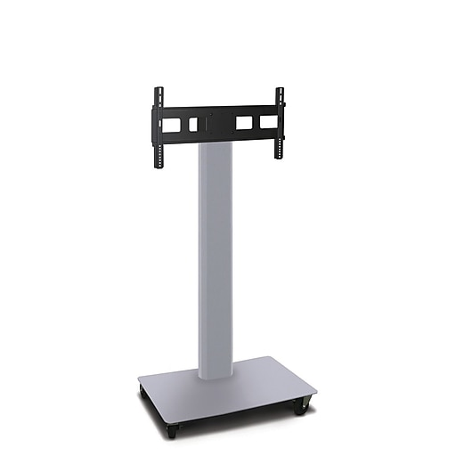 """Marvel Vizion TV/Monitor Stand and Mount, Silver/Black, 55""""H x 36""""W x 24""""D (MVPFE6055ST)"""