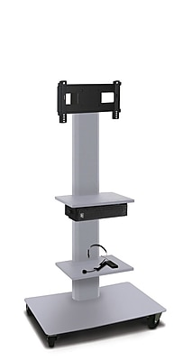 Marvel® Vizion® MVPFS3255ST2E TV/Monitor Stand and Mount with Two Shelves and AmpliVox Headset Microphone (holds 26