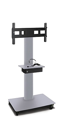 Marvel® Vizion® MVPFS6055STE TV/Monitor Stand and Mount with Equipment Shelf and AmpliVox Headset Microphone