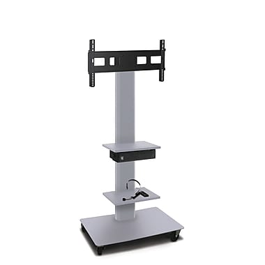 Marvel® Vizion® MVPFS6065ST2E TV/Monitor Stand and Mount with Two Equipment Shelves and AmpliVox Headset Microphone
