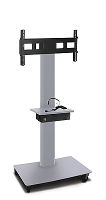 Marvel® Vizion® MVPFS6065STE TV/Monitor Stand and Mount with Equipment Shelf and AmpliVox Headset Microphone