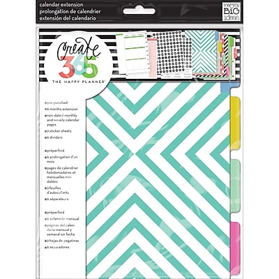 Create 365 Planner Month Extension Pages, Teal/Gold, (MONT-01)