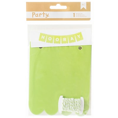 American Crafts DIY Party Banner Kit, Green & White (369846)