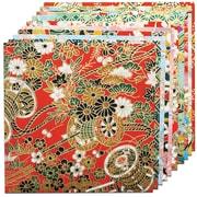 """Fold 'Em 5.9"""" x 5.9"""" Yuzen Red Origami Paper (4340)"""