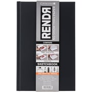 "RendR No Show Thru Hard Bound Sketch Book, 5.5"" X 8.5"", 48 Sheets/PK (12-00010)"